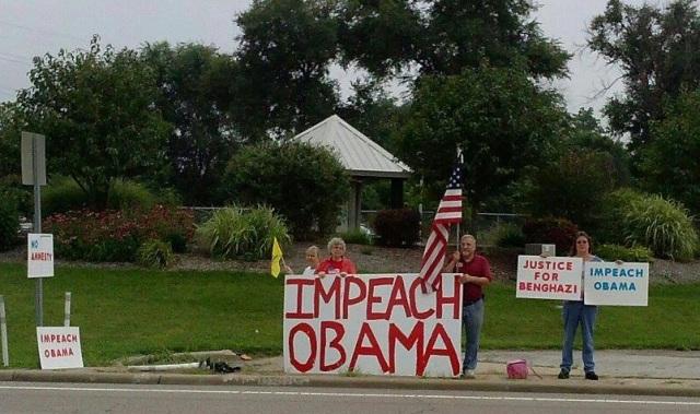 Small Protest in Illinois