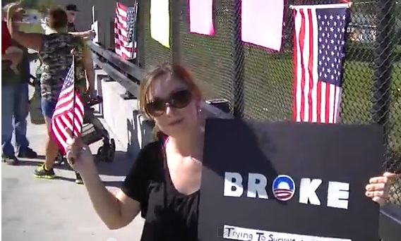 Overpasses for Obama's Impeachment Protest in Lima, Ohio 10-12-2013
