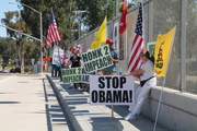 Impeach Obama Overpass Demo - Klayman's (Peaceful) Revolution