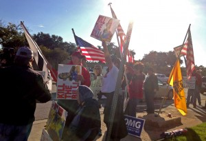 Protesters denounce health care law, Benghazi at site of Obama's Dallas appearance (video)