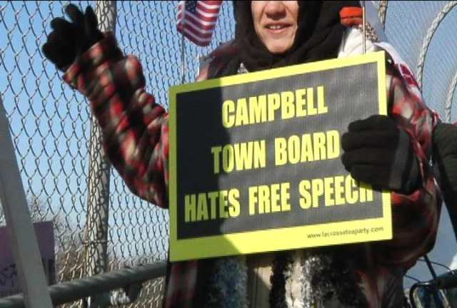 Group protests overpass ordinance
