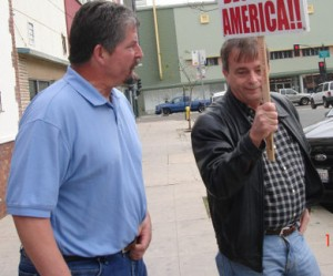 Tony Kranz outside a talk by Congressman, Bob Filner