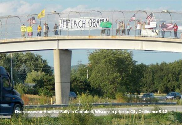 """IMPEACH OBAMA"" T-Shirts and Displaying American Flag Deemed Illegal"