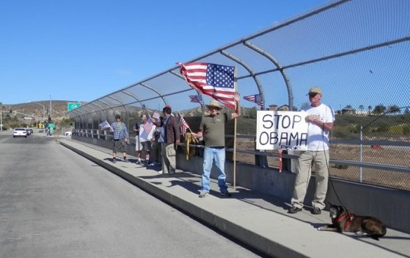 Simi Valley Overpass Protest