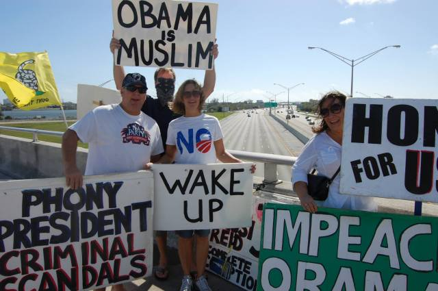Overpasses for America - East Coast Impeach-Obama Exchange
