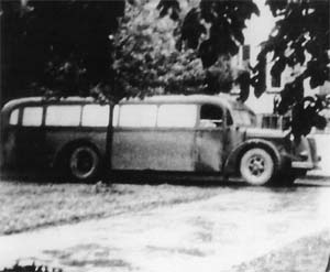 Nazi bus for Euthanasia Victims, circa 1939