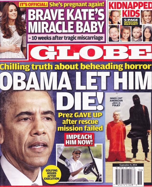 Globe Magazine Cover - Impeach Obama NOW