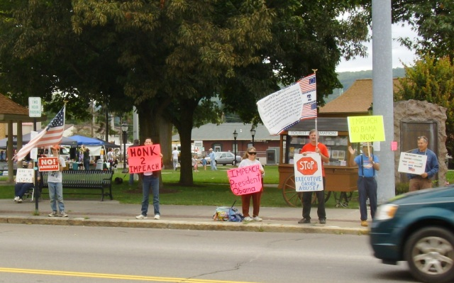 Impeach Obama Protest - Norwich, NY