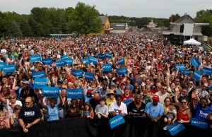 Obama zombies at a campaign rally
