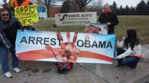 Obama Protesters at Indianapolis