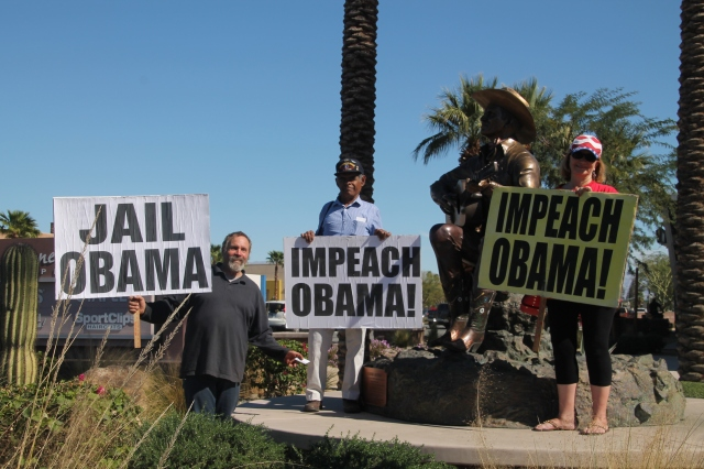 Impeach Obama Protesters in Palm Springs