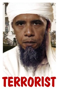 Obama bin Laden Side Panel Sticker