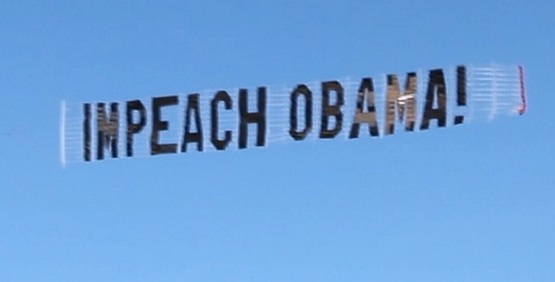 Banner flown over 2012 Rose Parade