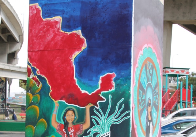 Chicano Park murals openly show southwestern US as part of Mexico.