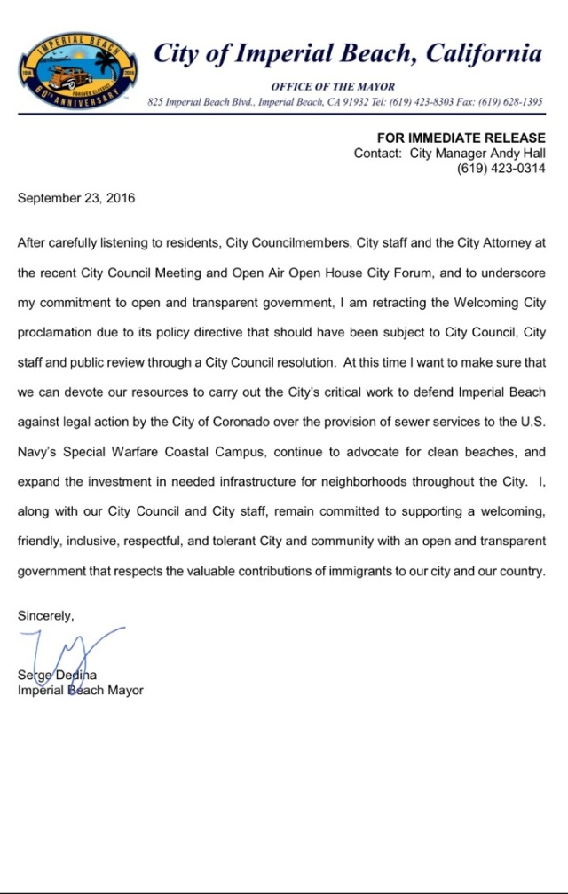 mayordedinapressrelease23sept16